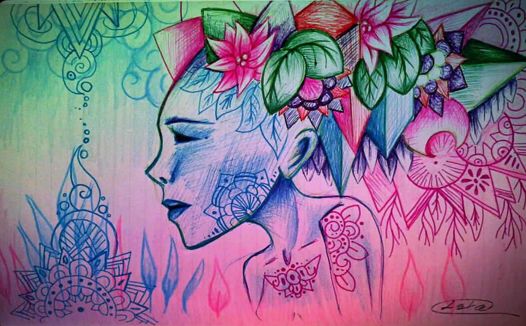 dibujo en rosa y azul by loto7714