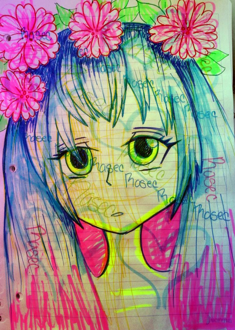 dibujo de miku by loto7714