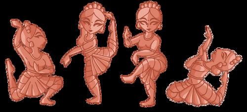 estatuillas de bailarinas indias by loto7714