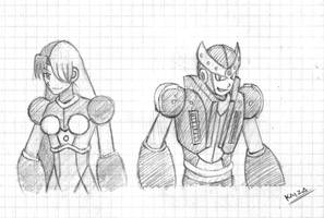Ares and Athena (Old Concept) by KAIZA-C