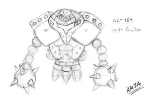 CyberSoul - Spike Crusher (Old Concept) by KAIZA-C