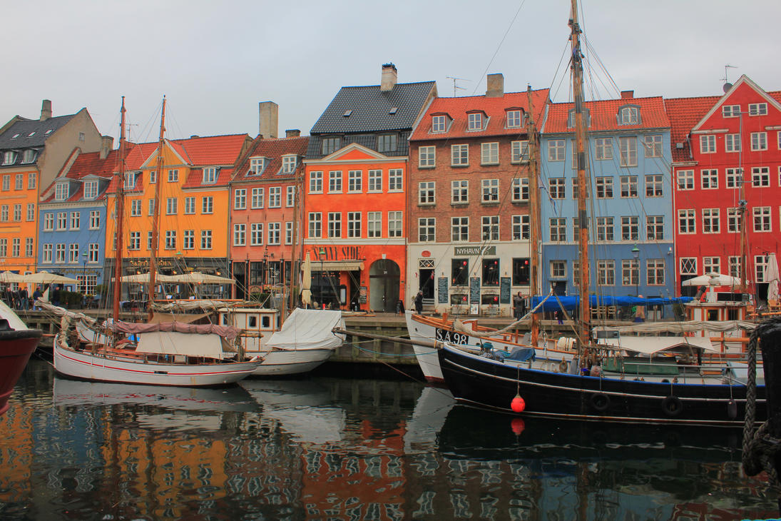 New Harbour in Copenhagen by wolfanger17