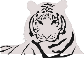 2 tone inkscape tiger by Riddic12