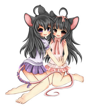 + Kiara and Chichi + by Midna01