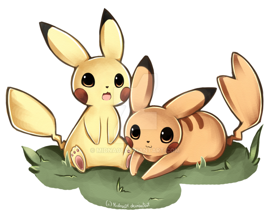 Pikachu couple by Midna01