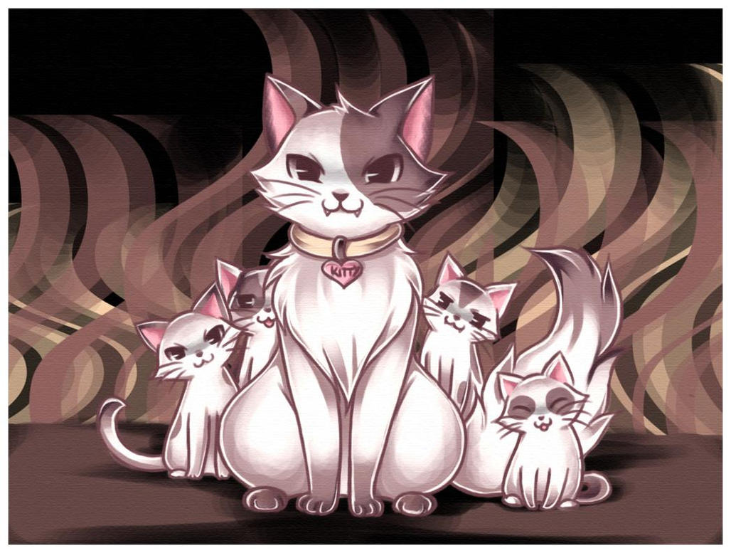 Evil Cats by Midna01