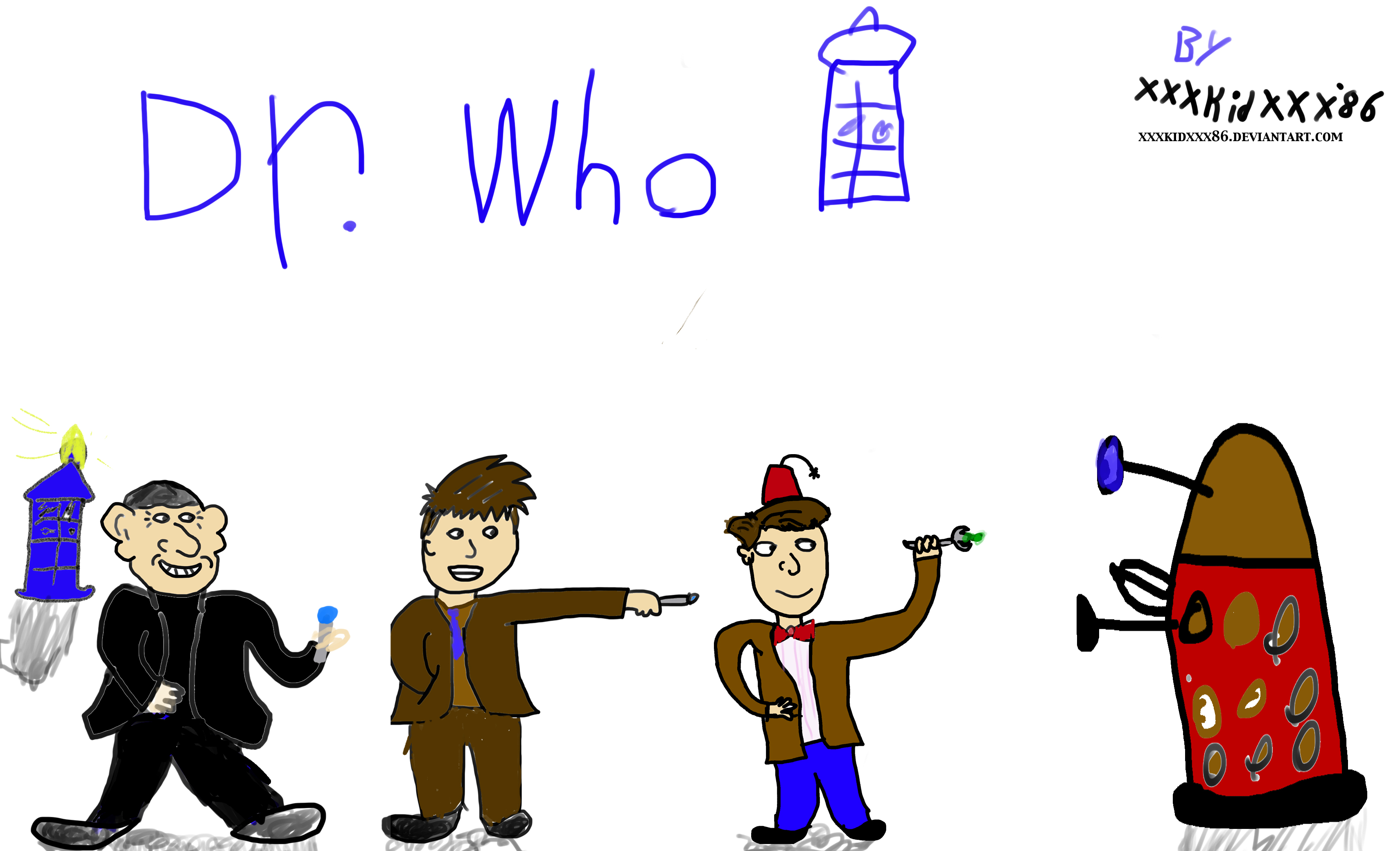 Doctor Who wall paper made by me by xxxkidxxx86