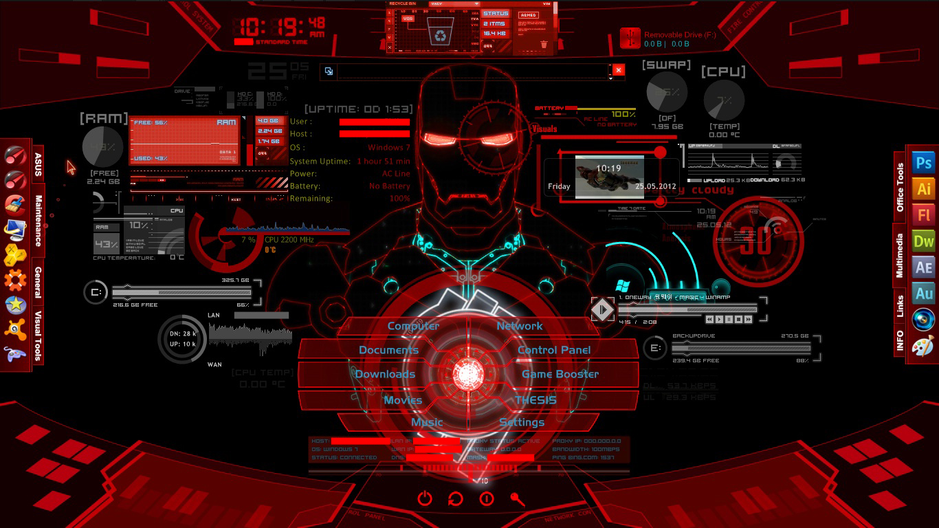 Iron man jarvis project red by asusk43sdj on deviantart - Iron man jarvis background ...