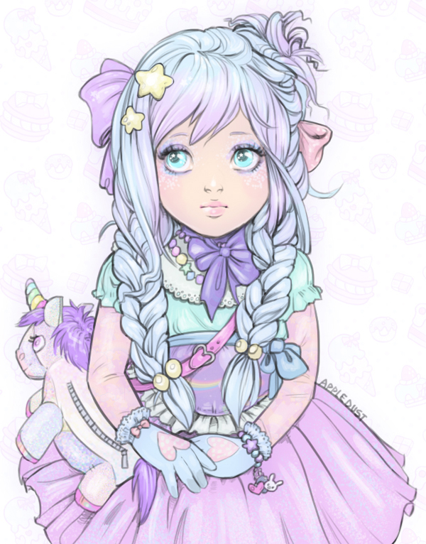 Kawaii Unicorn Cute Drawings Of Girls