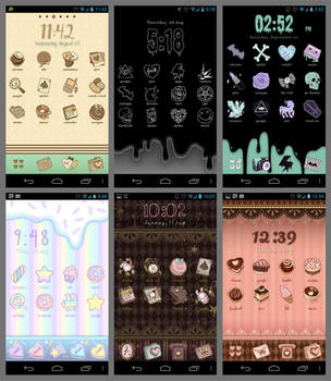 some phone themes by appledust