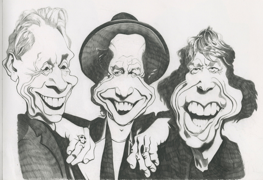 The Rolling Stones caricature by jmhoth