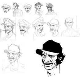 evolution of capt. Dante by batfish73