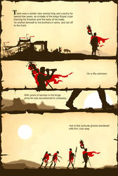 the Soldier and death page one by batfish73