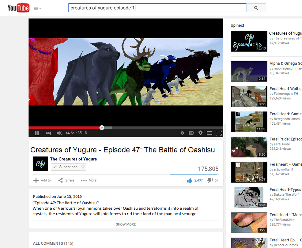 Creatures of Yugure on Youtube?! by 3933911