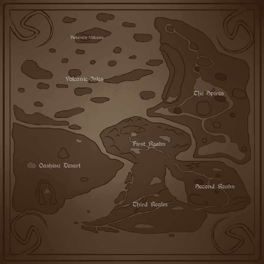 The Realms of Yugure Map by 3933911
