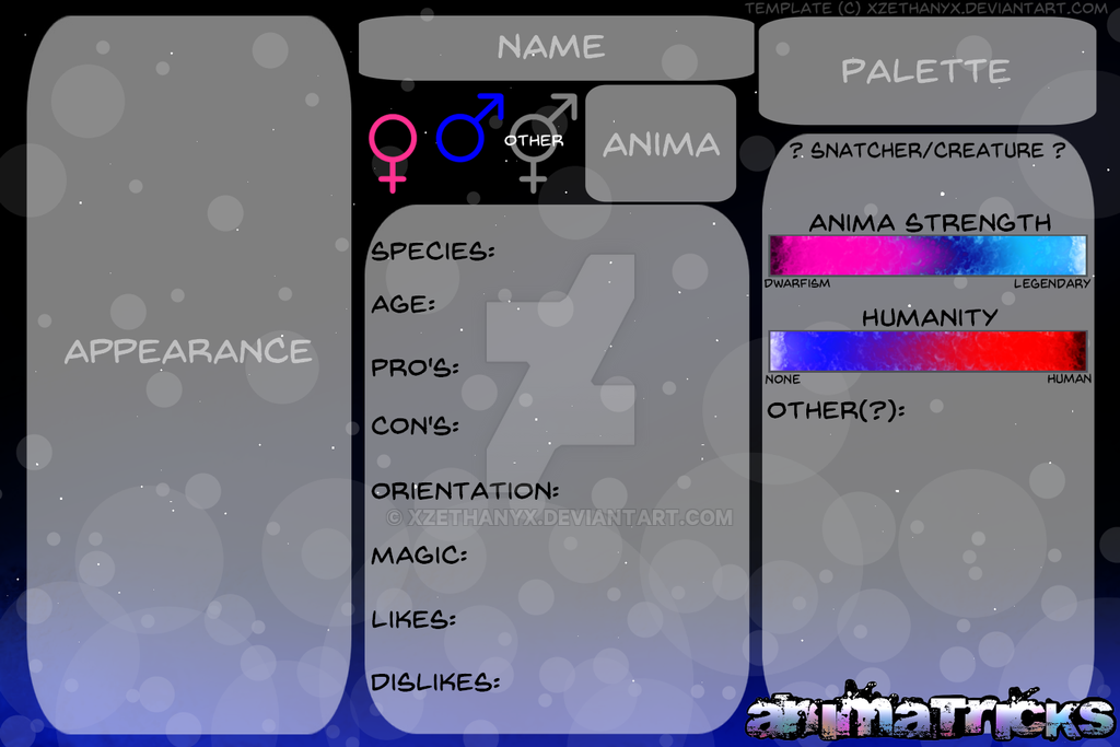Character Bio Template | Animatricks Character Bio Template V2 By Xzethanyx On Deviantart