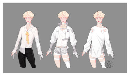 Headhunter AU Character Design White