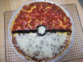 Pokeball Pizza by Jacqueline-Victoria