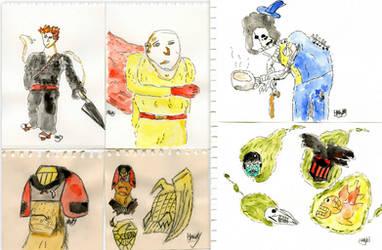 Sketch Dump 9-29th Aug 13' by Hawkmonger