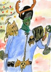 Merry Christmasssssss Judge Death 2013 by Hawkmonger