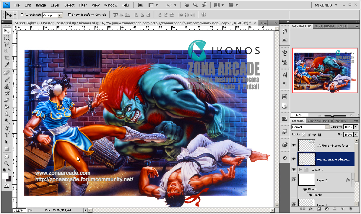Street Fighter II Poster 1 restored by Mikonos by Mikonos11
