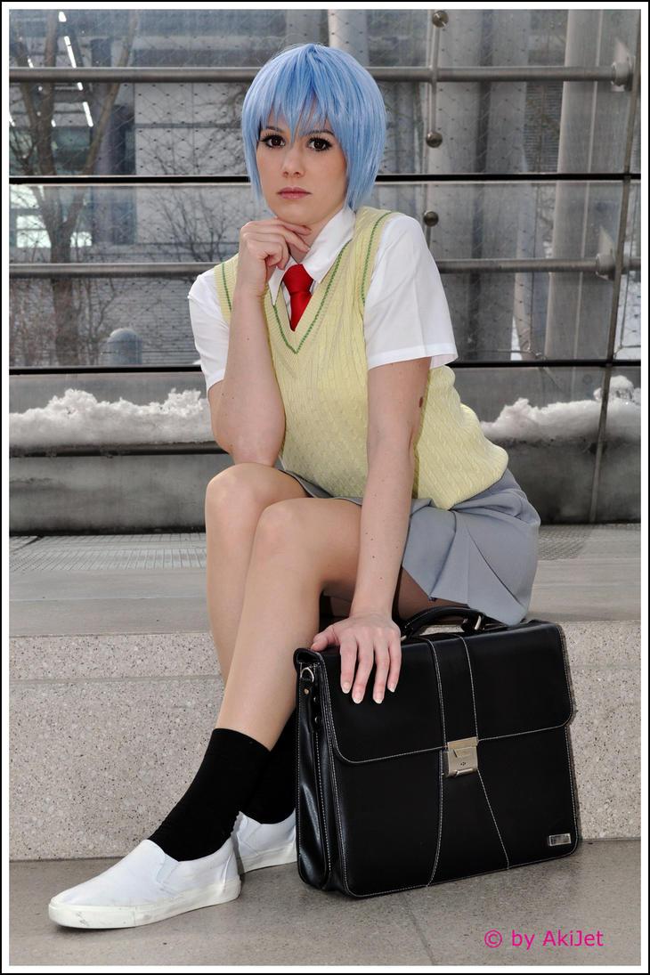 NGE: Schoolgirl by Mokuyo