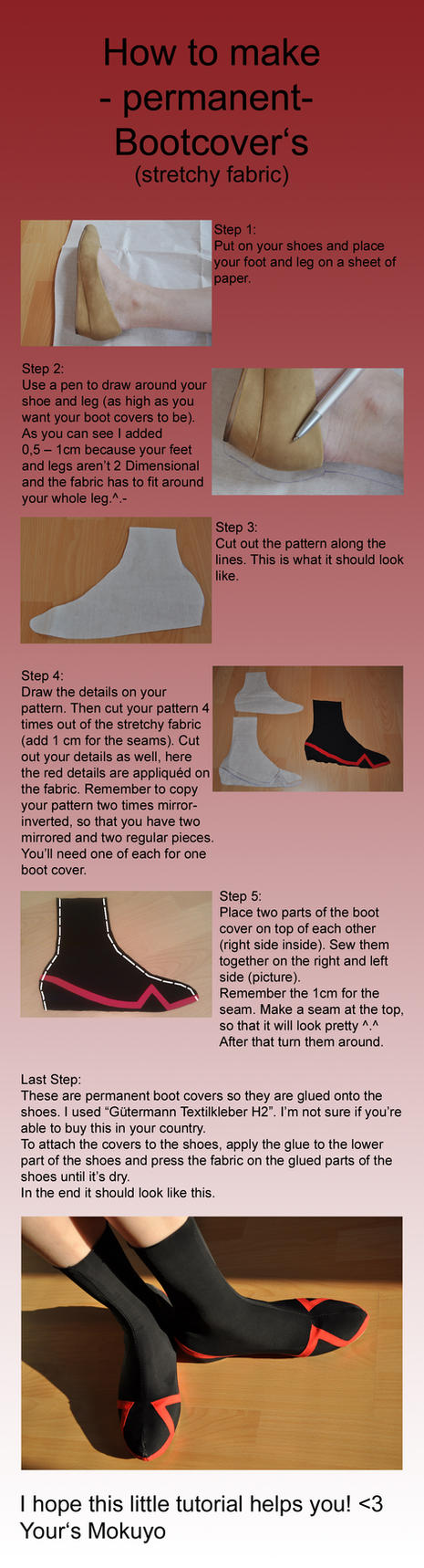 How to make Bootcovers Part 1 of 2 - permanent by Mokuyo