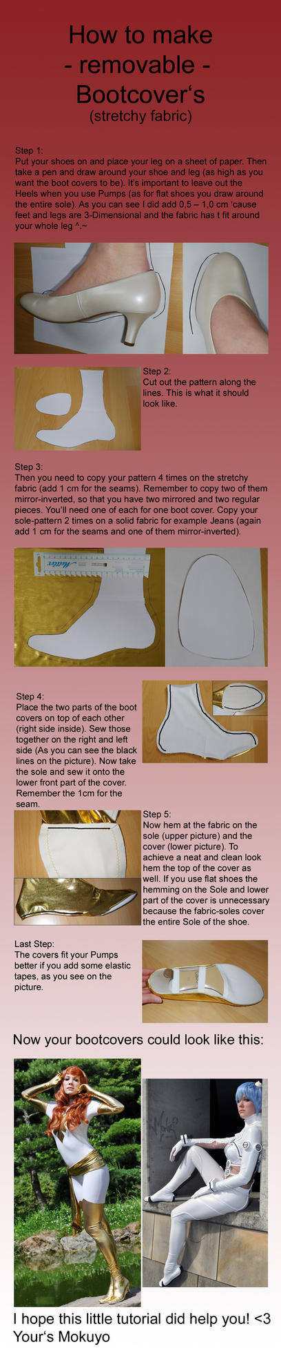 How to make Bootcovers Part 2 of 2 - removable by Mokuyo