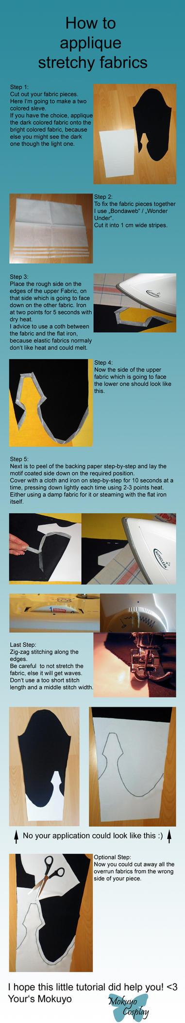 How to applique stretchy fabrics by Mokuyo