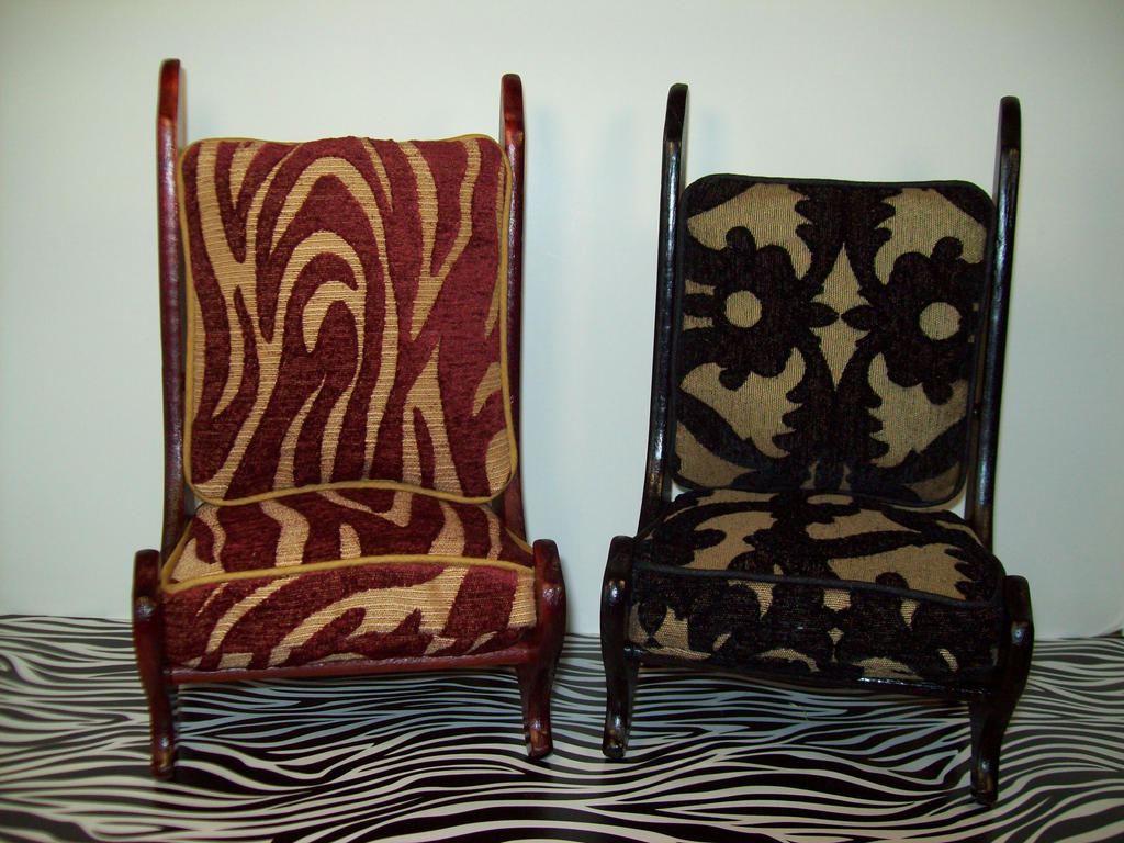 yosd size wooden chairs with cushions made by me by