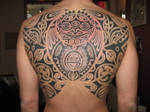 polynesian tattoo by pink