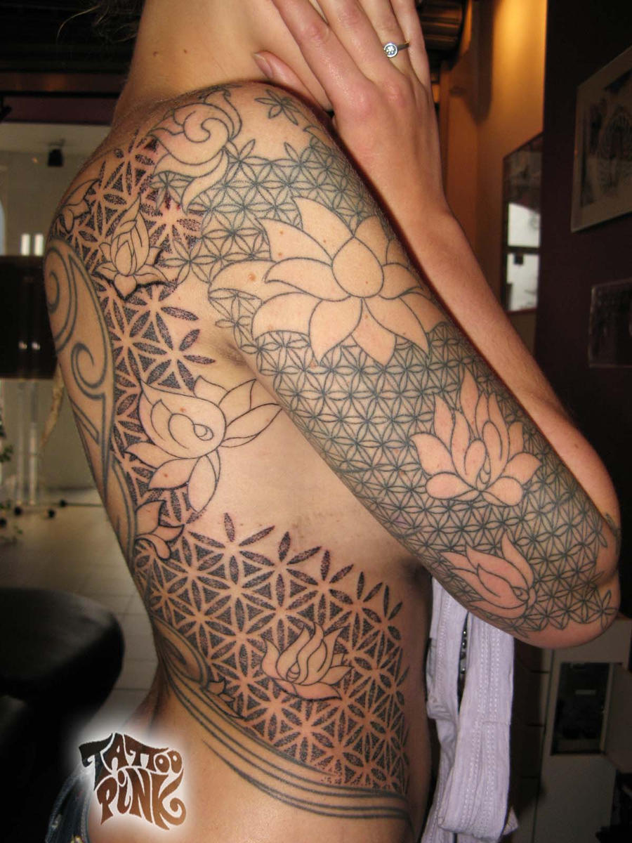 Coloring Flower Of Life : The gallery for gt flower of life tattoo color