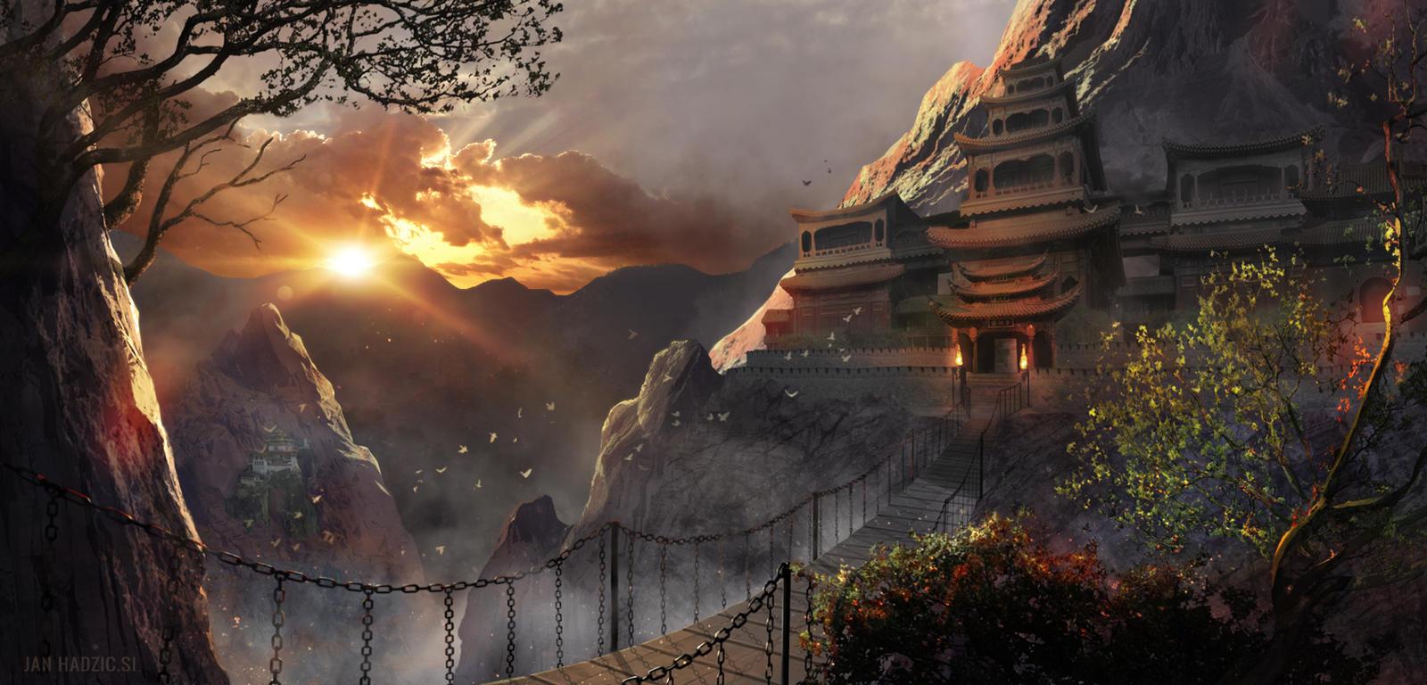 Temple-Sunrise by atma33