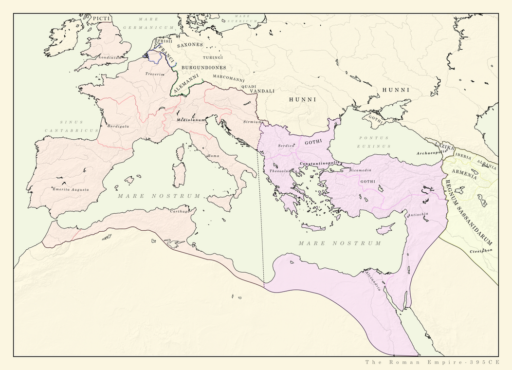 Roman Empire 395CE by Pischinovski