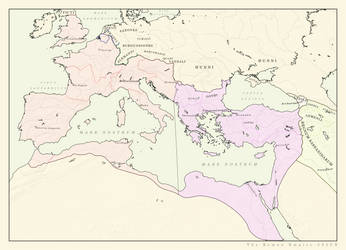 Roman Empire 395CE by Pischinovski