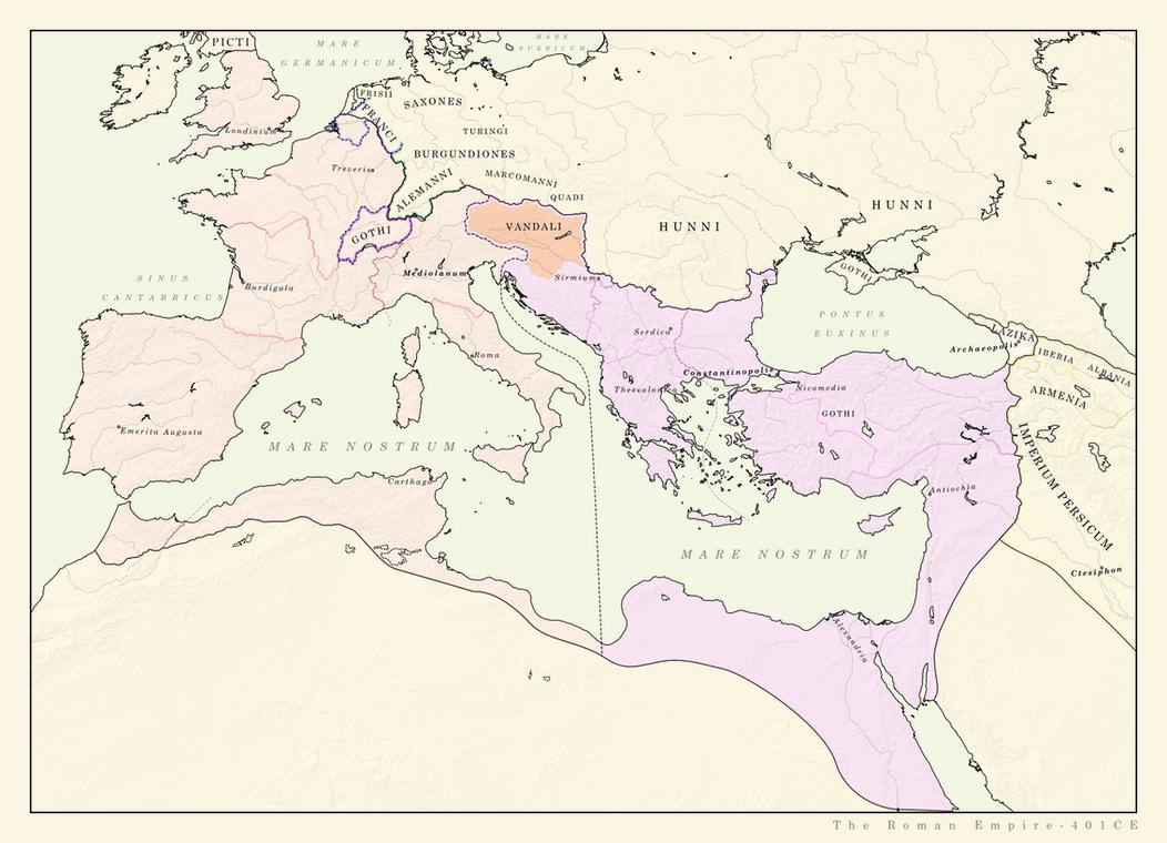 Roman Empire 401CE (ARALDYANA) by Pischinovski