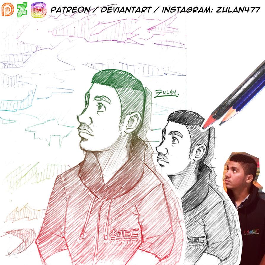 Karimo Sketch Collage by zulan477