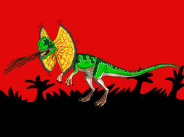 Dilophosaurus from Jurassic Park by TrefRex