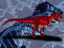 Jurassic Park Novel Tyrannosaurus rex by TrefRex