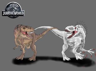 Jurassic World: T. rex Vs. I. rex by TrefRex