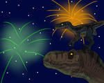 Happy 4th of July with Rexy and Blue