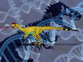 Jurassic Park Novel Dilophosaurus by TrefRex