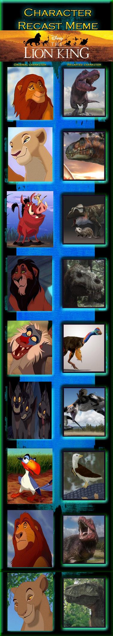 The Dinosaur King: Lion King Recast Meme by TrefRex