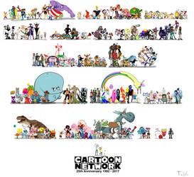 Cartoon Network 25th Anniversary by TrefRex
