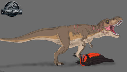 Jurassic World: Fallen Kingdom- Roberta vs Carno by TrefRex