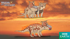 Walking with Dinosaurs: Pachyrhinosaurus lakustai by TrefRex