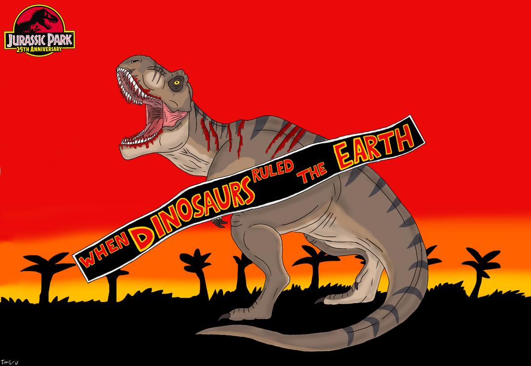 Jurassic Park 25th Anniversary: Rexy/ Roberta by TrefRex