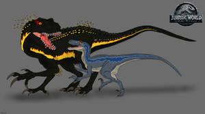 JW: Fallen Kingdom - Blue vs. Indoraptor by TrefRex