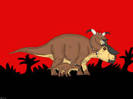 Jurassic Park: Pachyrhinosaurus by TrefRex