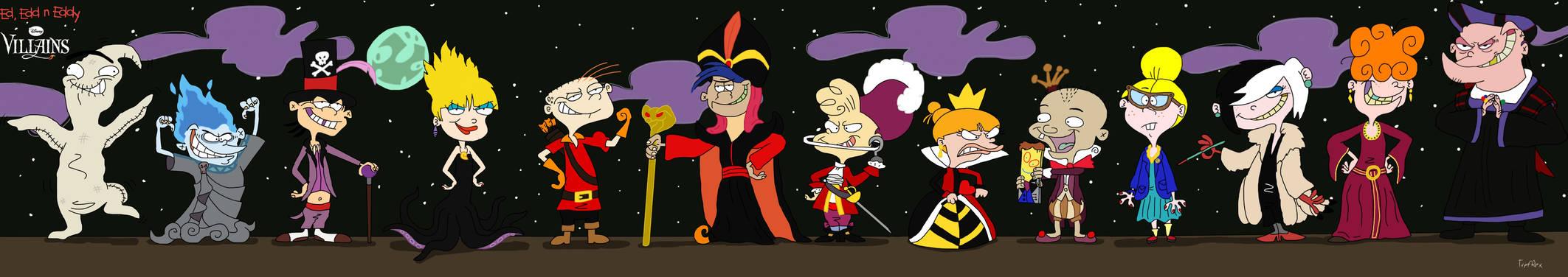 Ed, Edd n Eddy as Disney Villains